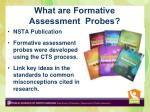 what are formative assessment probes