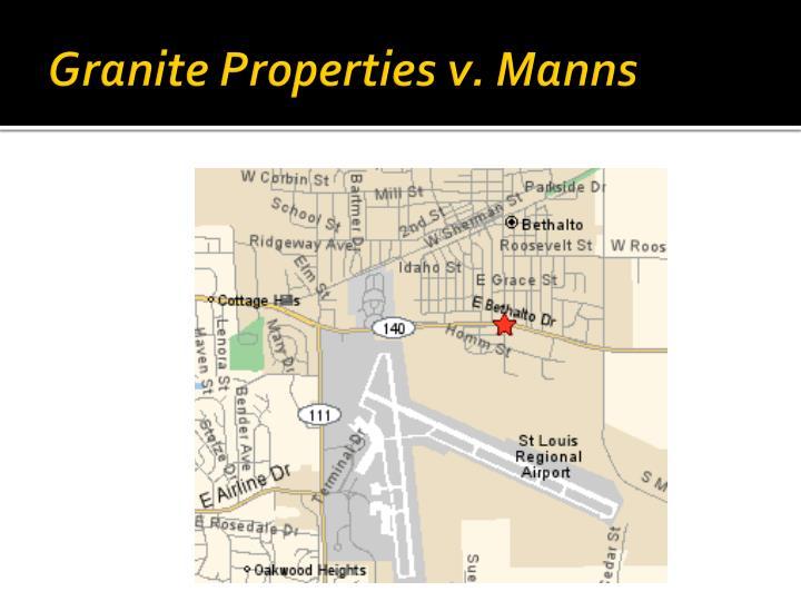 Granite Properties v. Manns