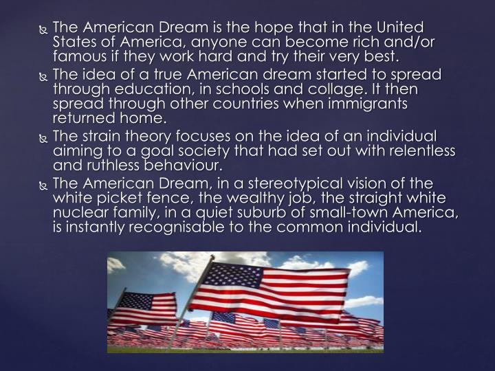 definitions of the american dream The american dream meant coming here as a refugee or immigrant and  i could  have sworn that my mom's definition of the american dream.