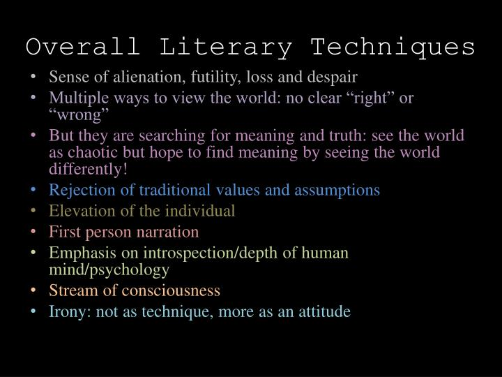 Overall Literary Techniques