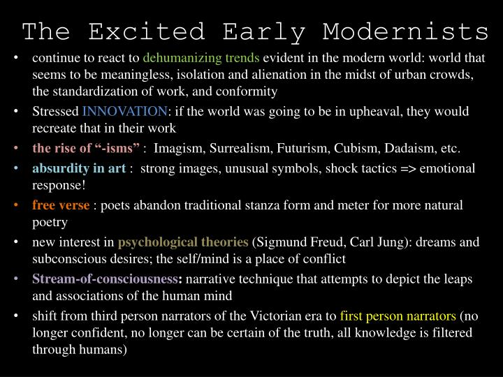 The Excited Early Modernists