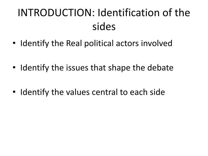INTRODUCTION: Identification of the sides