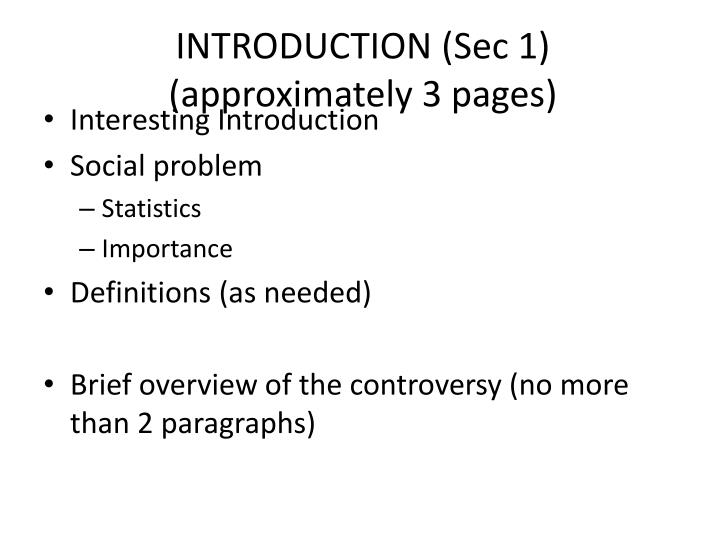 INTRODUCTION (Sec 1)