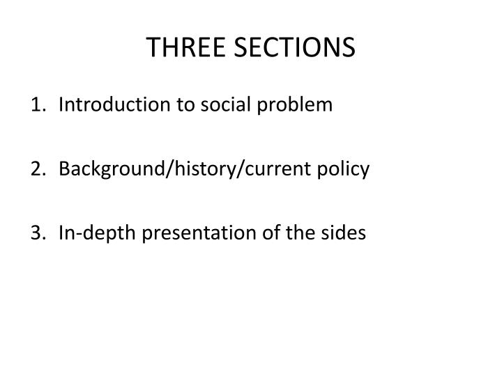 THREE SECTIONS