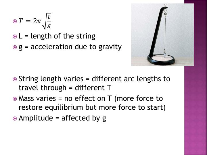 L = length of the string