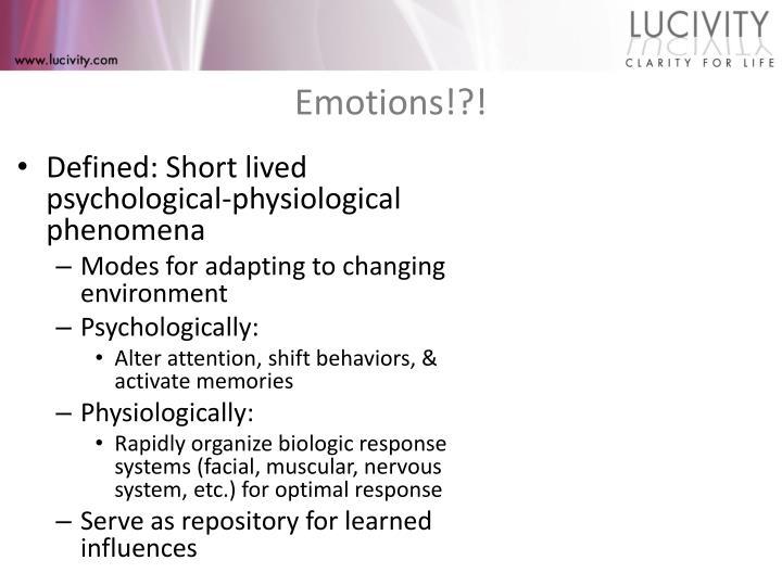 Emotions!?!