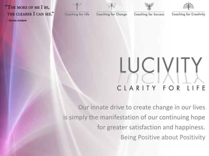 Our innate drive to create change