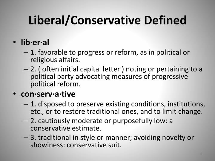 Liberal/Conservative Defined