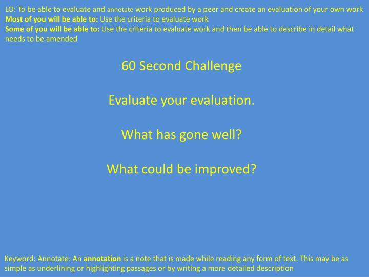 60 Second Challenge