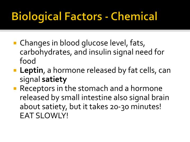 Biological Factors - Chemical