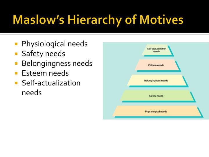 Maslow's Hierarchy of Motives