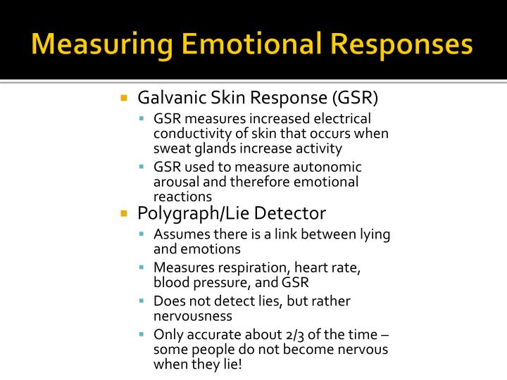 Measuring Emotional Responses