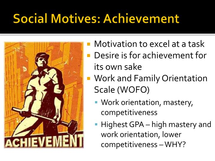 Social Motives: Achievement