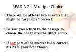 reading multiple choice