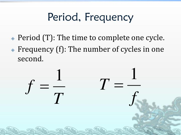 Period, Frequency