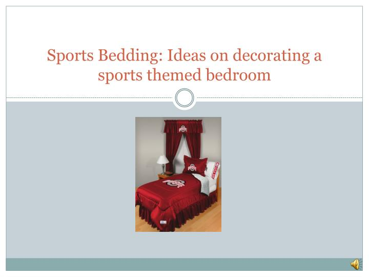 sports bedding ideas on decorating a sports themed bedroom