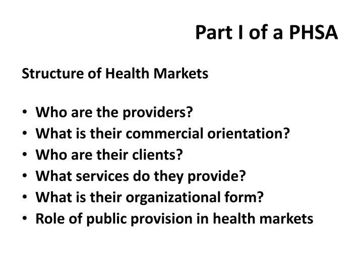 Part I of a PHSA