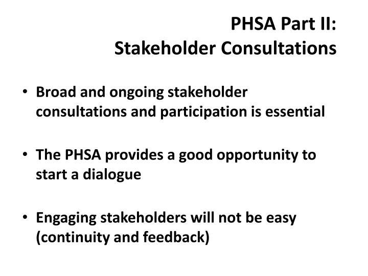 PHSA Part II: