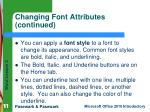 changing font attributes continued2