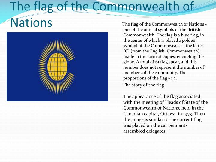 The flag of the Commonwealth of Nations