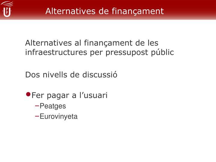 Alternatives de finançament