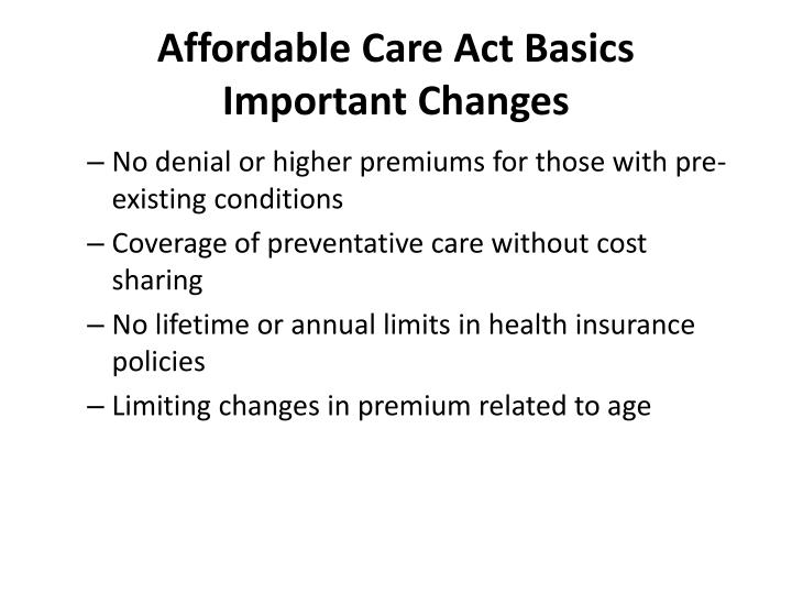 Affordable Care Act Basics