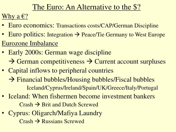 The euro an alternative to the