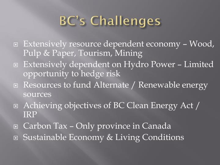BC's Challenges