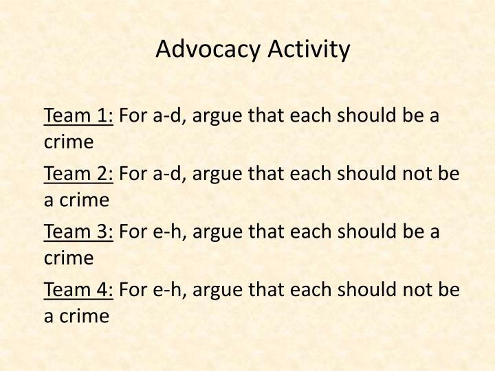 Advocacy Activity