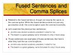 fused sentences and comma splices1