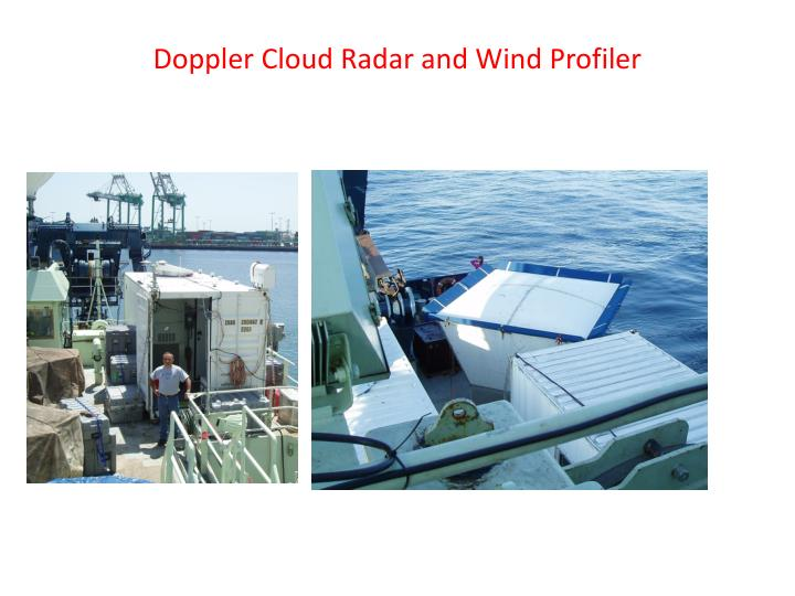 Doppler Cloud Radar and Wind Profiler