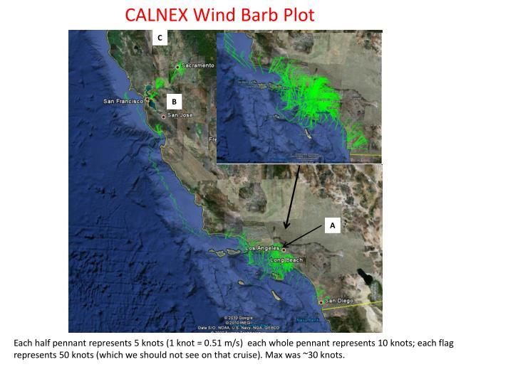 CALNEX Wind Barb Plot