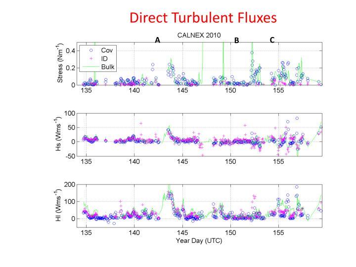 Direct Turbulent Fluxes