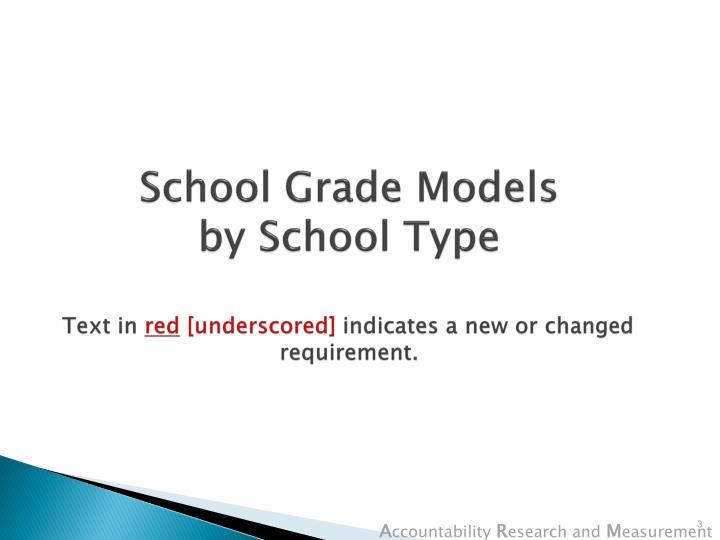 School Grade Models