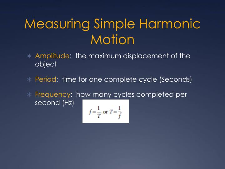 Measuring Simple Harmonic Motion