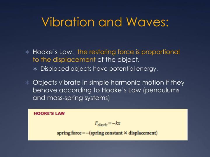 Vibration and Waves: