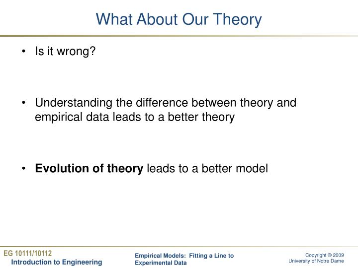 What About Our Theory