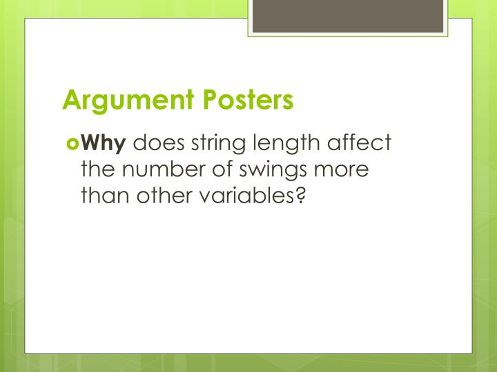 Argument Posters