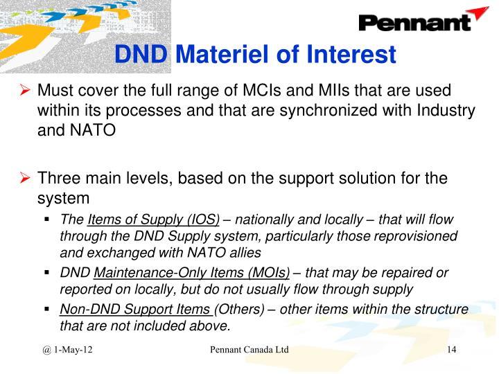 DND Materiel of Interest