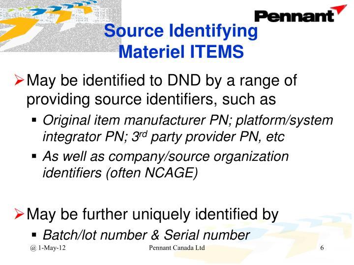 Source Identifying