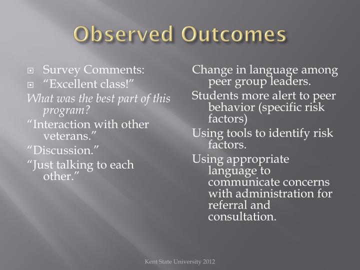 Observed Outcomes
