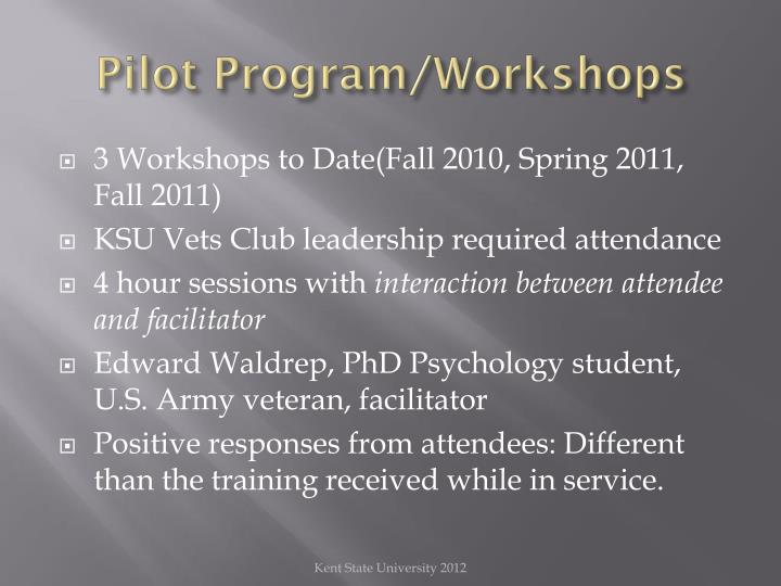 Pilot Program/Workshops