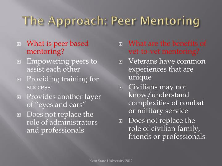 The Approach: Peer