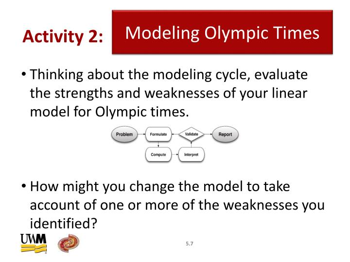 Modeling Olympic Times