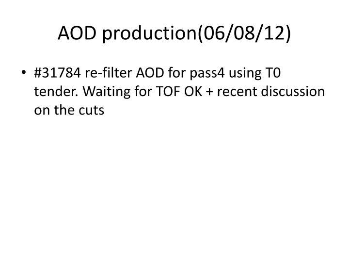 AOD production(06/08/12)