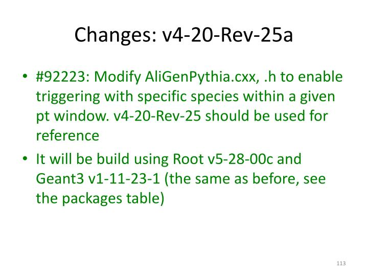 Changes: v4-20-Rev-25a