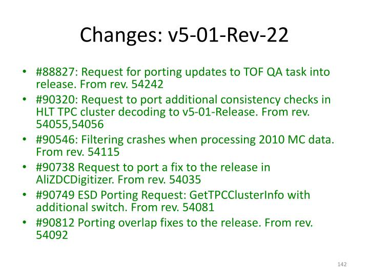 Changes: v5-01-Rev-22