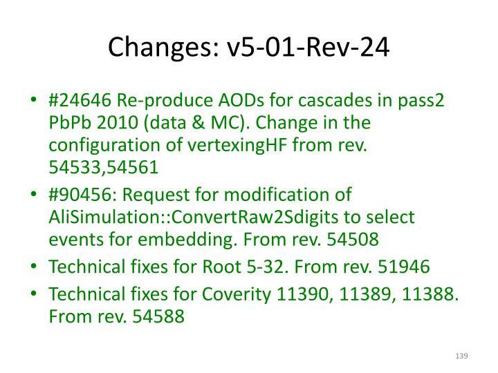 Changes: v5-01-Rev-24