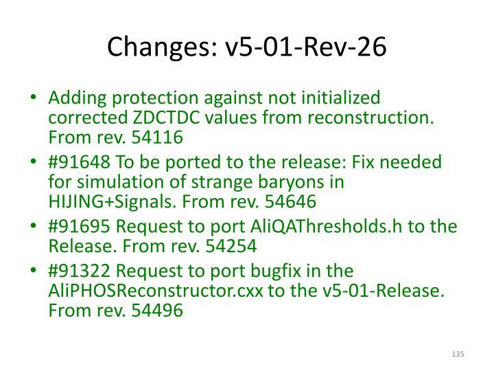 Changes: v5-01-Rev-26