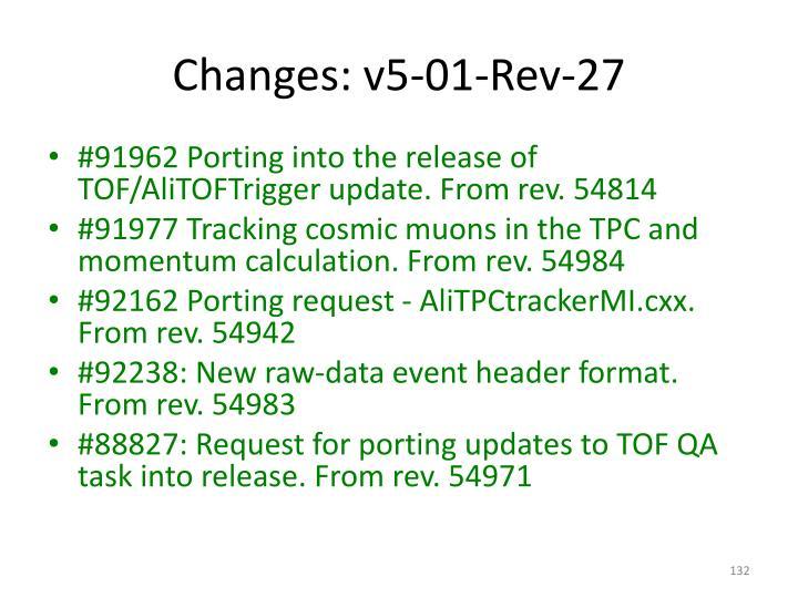 Changes: v5-01-Rev-27